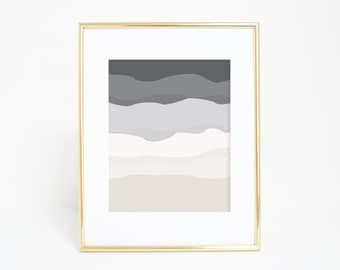 Wall Art, Gray Print, Printable Minimalist Art, Nursery Print, Modern Wall Art, Neutral Nursery Decor, Abstract Wall Art, Download Printable