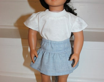 Doll Clothes,18 inch Doll Clothes,18 inch Doll,Doll Skirt and Top,American Made Doll Clothes,Doll Outfit