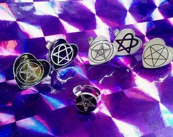 Hail Satan rings