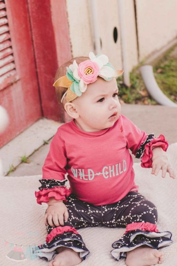 BABY Cheyenne's Ultimate Ruffle Tshirt. PDF sewing pattern for Baby sizes NB - 24 months