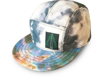 5 Panel Snap Back Hat - Space Clouds