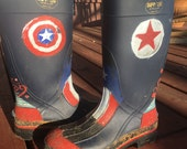 Hand painted Avengers Boots