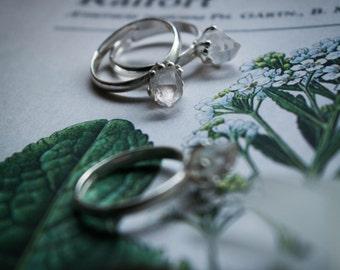 Herkimer Quartz Wisdom - With Herkimer Quartz sterling silver ring