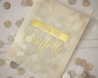 Confetti | Gold Confetti | Wedding Confetti | Gold & Ivory Confetti | Tissue Paper Confetti