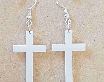 Cross Earrings - Acrylic