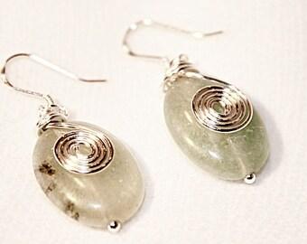 Aventurine Swirl Dangle Earrings ~~~~~~~~ Item ID: M000066