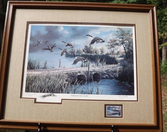 "1987 Commemorative print "" Lifting to the North "" sign Ken Zylla"