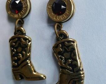 Cowboy Boots Bullet Earrings