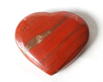 Red Jasper Heart Crystal Stone (Beautifully Gift Wrapped)