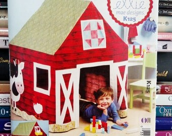 2012 Ellie Mae Designs-Kwik Sew # K 125-Old McDonald's Playhouse-Child's Barn Playhouse-Woven Fabrics-Chicken-Cow-Duck-Horse-Pig-UNCUT