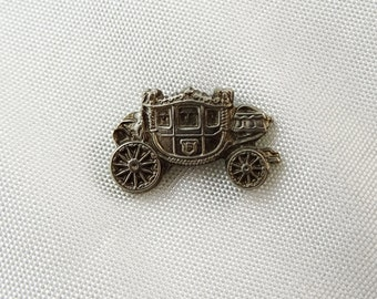 Vintage Tie Pin Tack Old Carriage
