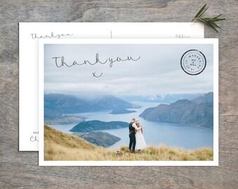 Personalised Wedding Thank You Postcard