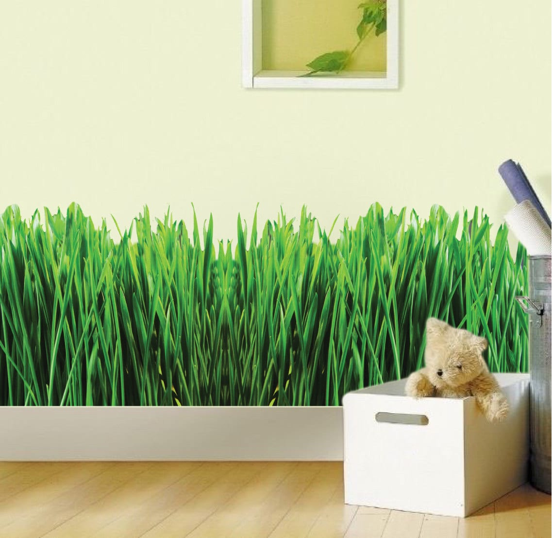 Grass room decal nursery wallpaper decal green grass wall zoom amipublicfo Images