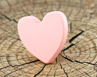 Kids drawer knobs, Heart dresser knobs and pulls, Wooden drawer knobs, Pink wardrobe handles, Heart pink decorations, Baby girl decorations