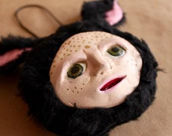 Unique Piece! Handmade Art Doll - BunnyKoko Face