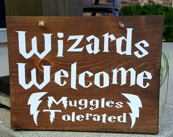 Harry Potter- Wizards Welcome Muggles Tolerated Wall Hanging