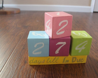 Baby count down blocks