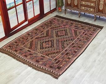 272x193 cm  huge very rare oriental Fine Afghan natural colors Ghalmouri  nomadic Kilim   No:237