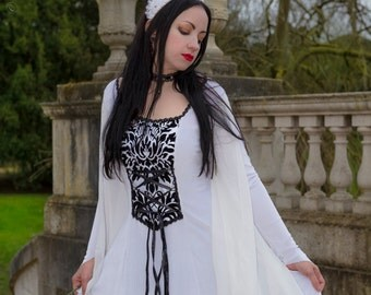 Snow White Dress - *most colours available* Handmade Fairytale Gothic Velvet Medieval dress LOTR Game of Thrones other colours available