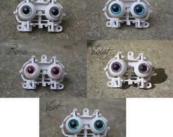 Eyechips pullip 12 mm - glitter (purple, blue, green, pink, grey)