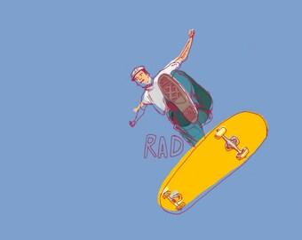 Rad Skateboarding Illustration