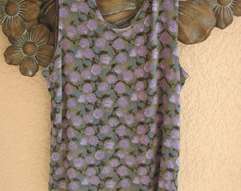 FLAX Engelhart Foundations Rare Holds You Tank Cami Top HYDRANGEA - L -