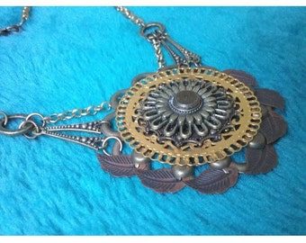 Rivetted metal necklace - SALE