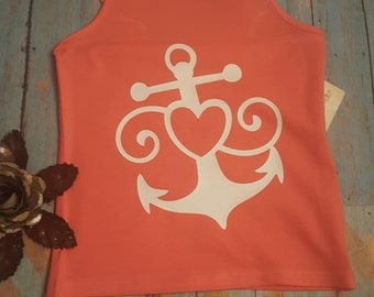Youth tank top with anchor design