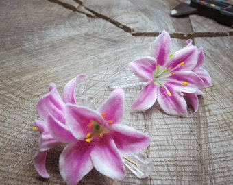 Lily Hair Clip ~2 pieces #100935