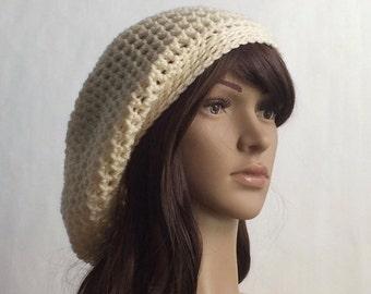 Summer Hat for Woman, Boho hat, Festival Hat, Slouchy Beanie Hat, Slouch Beanie Hat, Rasta Hat, Oversized Beanie Hat, Christmas in July, CIJ