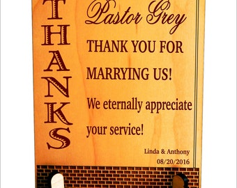 Wedding Officiant GiftWedding Thank You CrossCustom Wedding