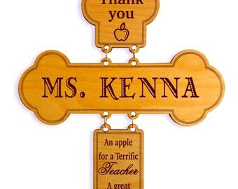 Custom Cross Teacher Appreciation Gift,Wall Decorative Cross, Student to Teacher Appreciation Gift,Home Decor for Teachers,Thank you Teacher