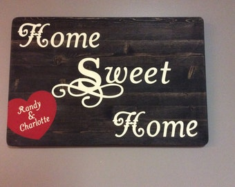 Housewarming, wedding, gift, personalized, home sweet home, wedding guest book alternative
