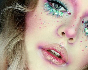 Pink Mermaid Cosmetic Glitter Face Pack
