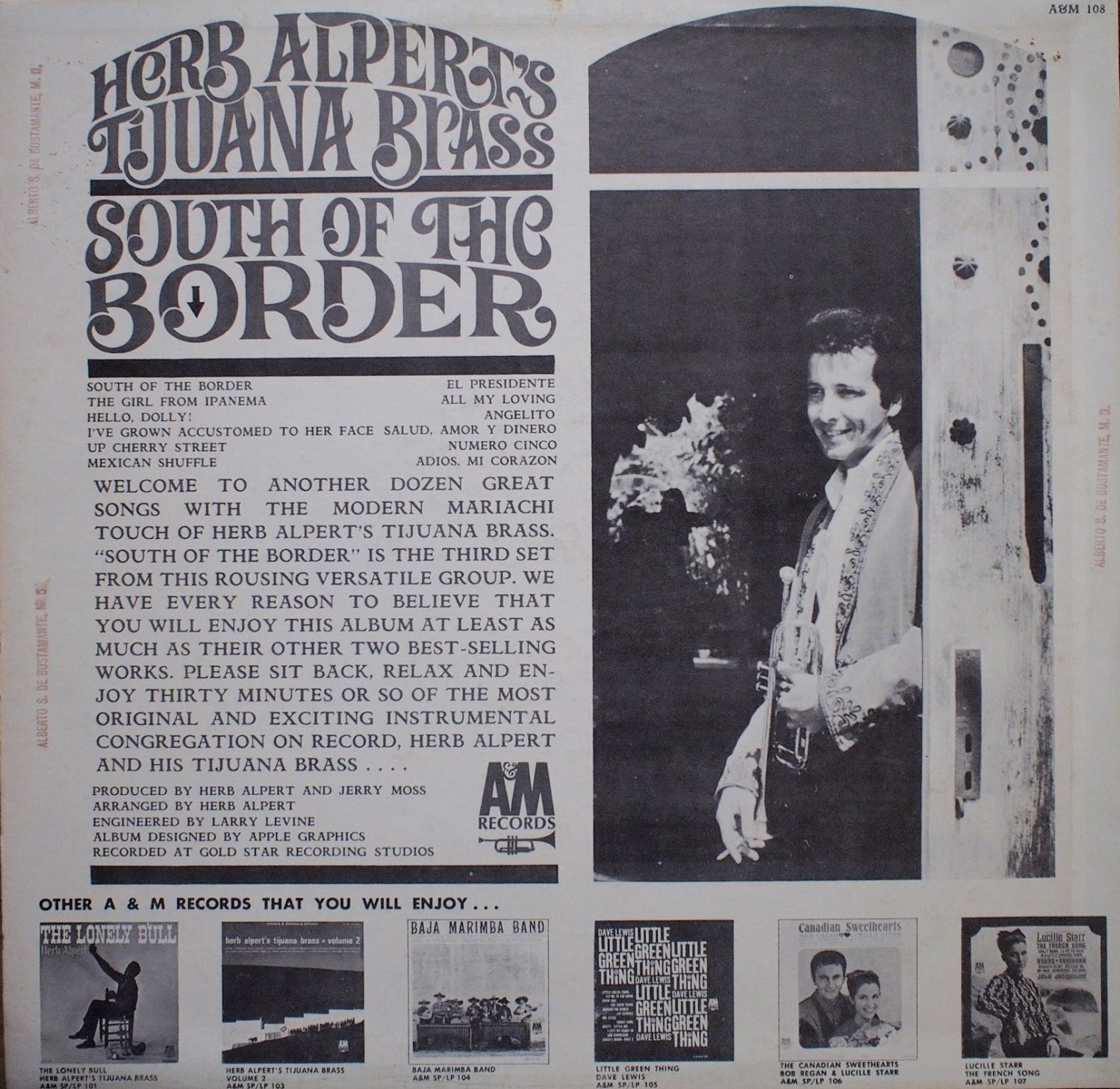 Herb Alpert Amp The Tijuana Brass South Of The Border Vinyl