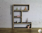 Modern library wood scale 1:12 for doll houses (Cod.L001)
