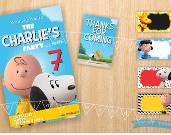 Peanuts Invitation kit , Peanuts Invitation, Peanuts Birthday Invitation, Peanuts Invitation Download, Peanuts Party, Peanuts Invites