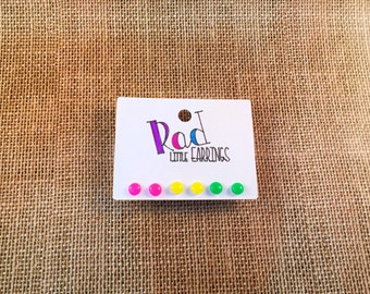 NEON earrings, neon handmade earrings, neon, handmade earrings, gumdrop earrings, bead earrings, jewelery, handmade jewelery