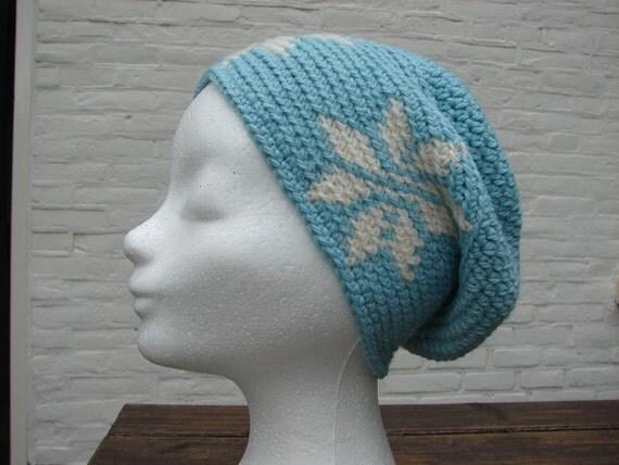 Crochet pattern hat with 4 stars crochet slouchy womens