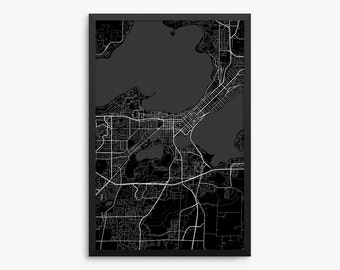 Madison Wi Map Etsy