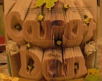 Wedding Anniversay Folded Book Art