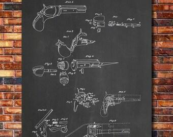 First Colt Revolver Patent Print Art 1836