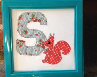 Patchwork Animal Initial/Letter - 'S is for Squirrel'