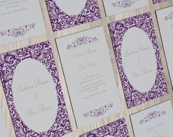 Vintage Wedding, Wedding Invitation, Violet Wedding, Romantic Invitation, Inviti Nozze, Partecipazioni Nozze, Purple Wedding, Matrimonio