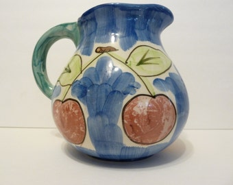 Juice Pitcher, By: Guyroc, Cherry and Grape Pattern