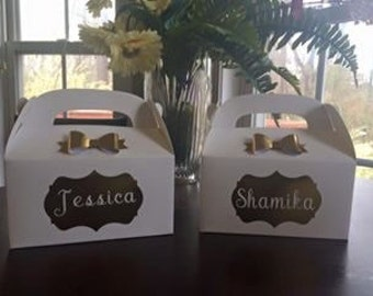 Bridesmaid, proposal box, birthday, bat mitzvah, baby shower, wedding, boxes, favor boxes