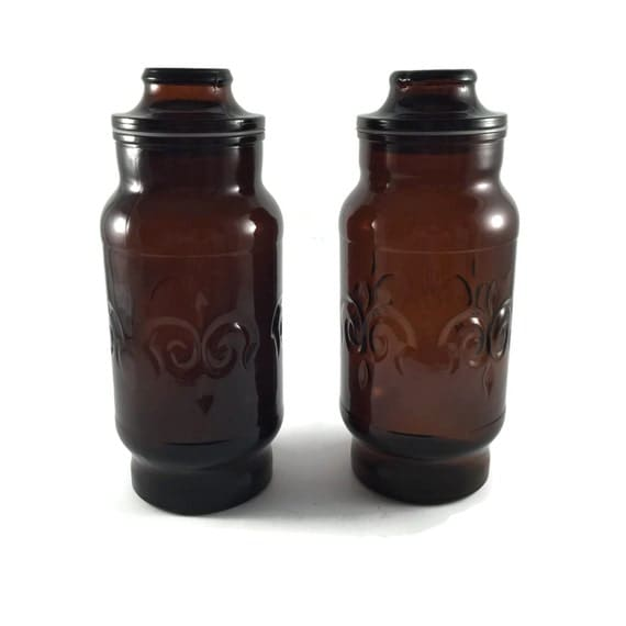 Kitchen decor kitchen canisters glass storage containers for Glass bathroom canisters