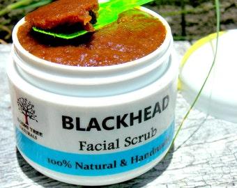 5oz Blackhead eliminating facial Scrub scrub - 100% Vegan - Anti bacterial Sugar scrub - cleansing scrub