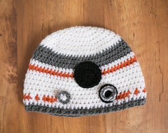 Crochet BB8 Hat, Star Wars BB8 Hat, Crochet Star Wars BB8 Hat, BB8 Droid Hat, Star Wars Hat, Crochet Baby BB8 Hat, Star Wars Prop, BB8