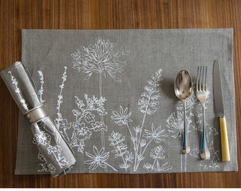 Linen Placemats Set of Two from the Garden Collection